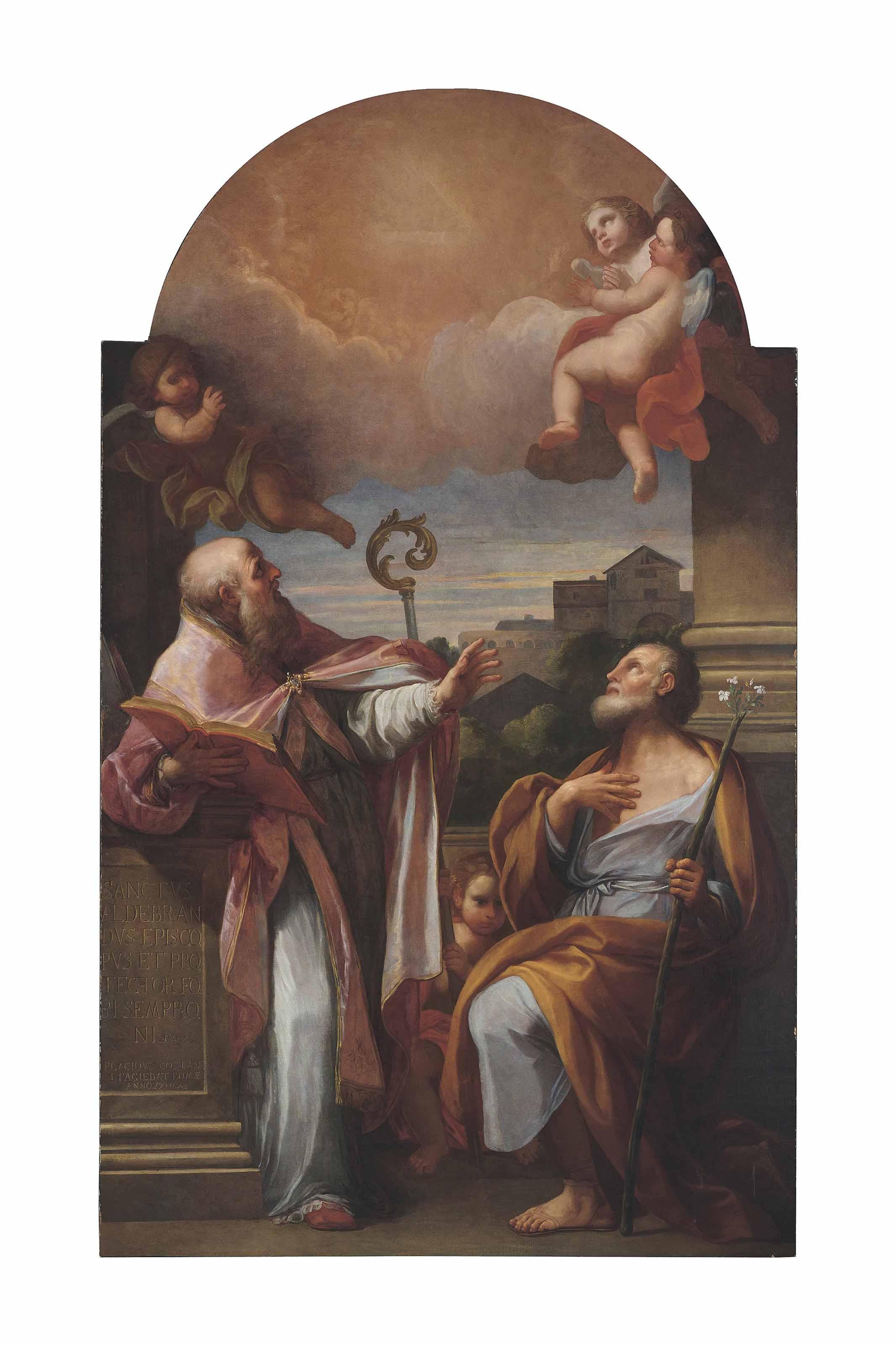 Saint Aldebrando of Fossembrone and Saint Joseph