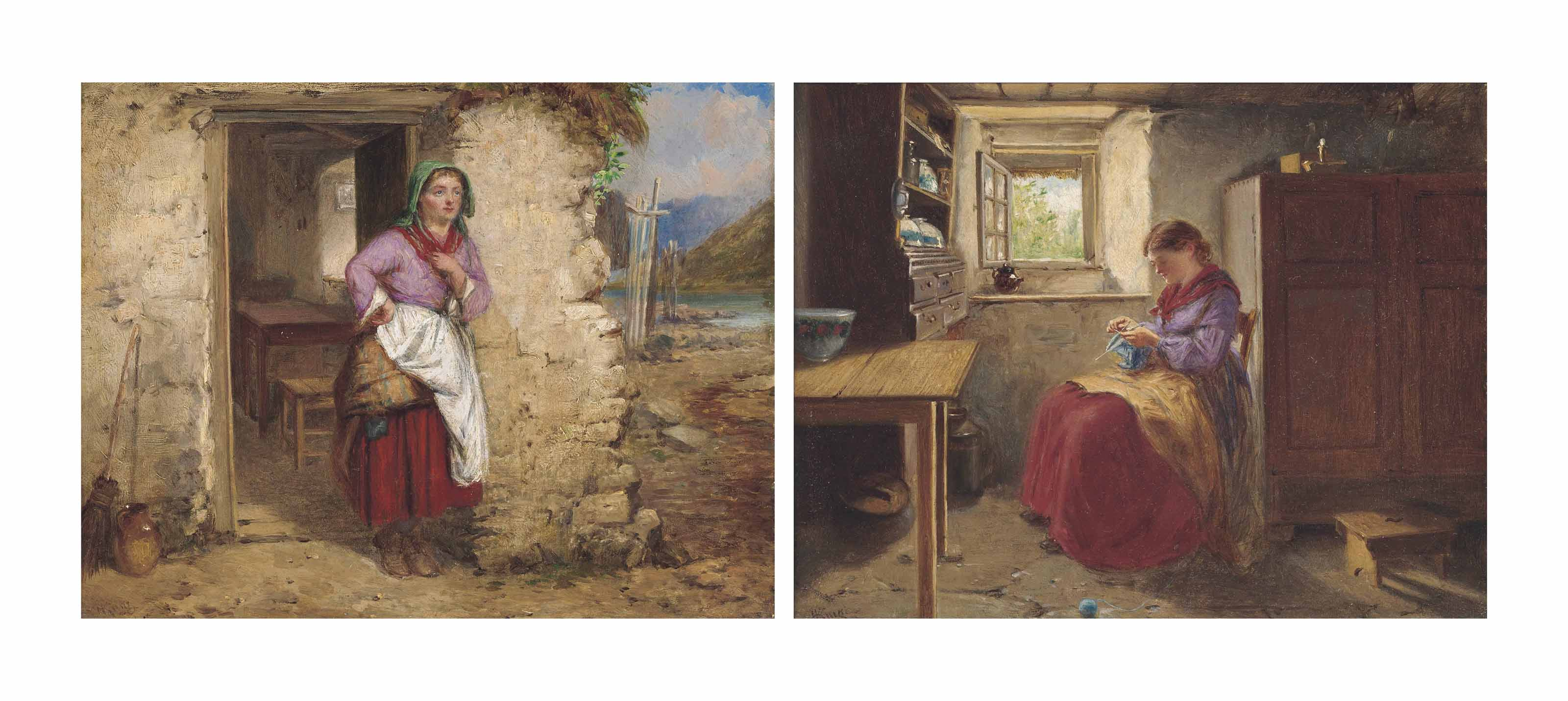 The Crofter's wife at the doorway; and Waiting on his return (both illustrated)