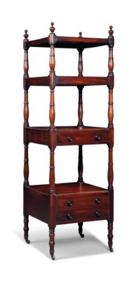A GEORGE IV MAHOGANY FOUR-TIER