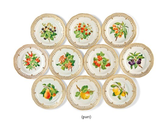 A SET OF TEN ROYAL COPENHAGEN
