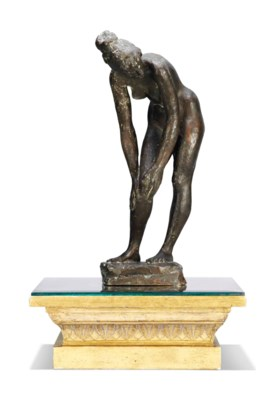 A BRONZE STUDY OF A NUDE