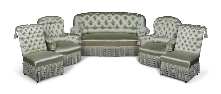 A MATCHED FRENCH SUITE OF SEAT