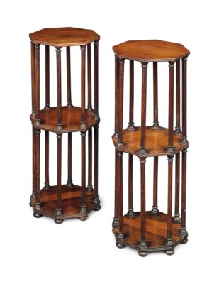 A PAIR OF VICTORIAN ROSEWOOD O
