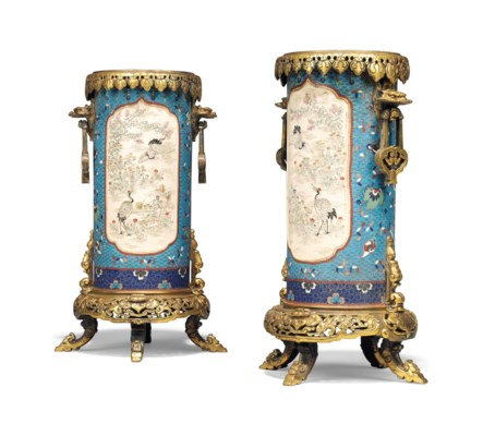 A PAIR OF FRENCH 'JAPONISME' O