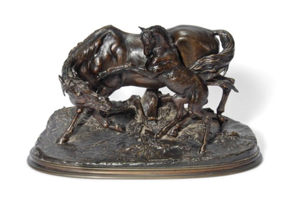 A FRENCH BRONZE GROUP OF A MAR