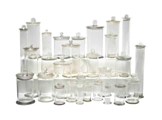 TWENTY-SEVEN GLASS APOTHECARY