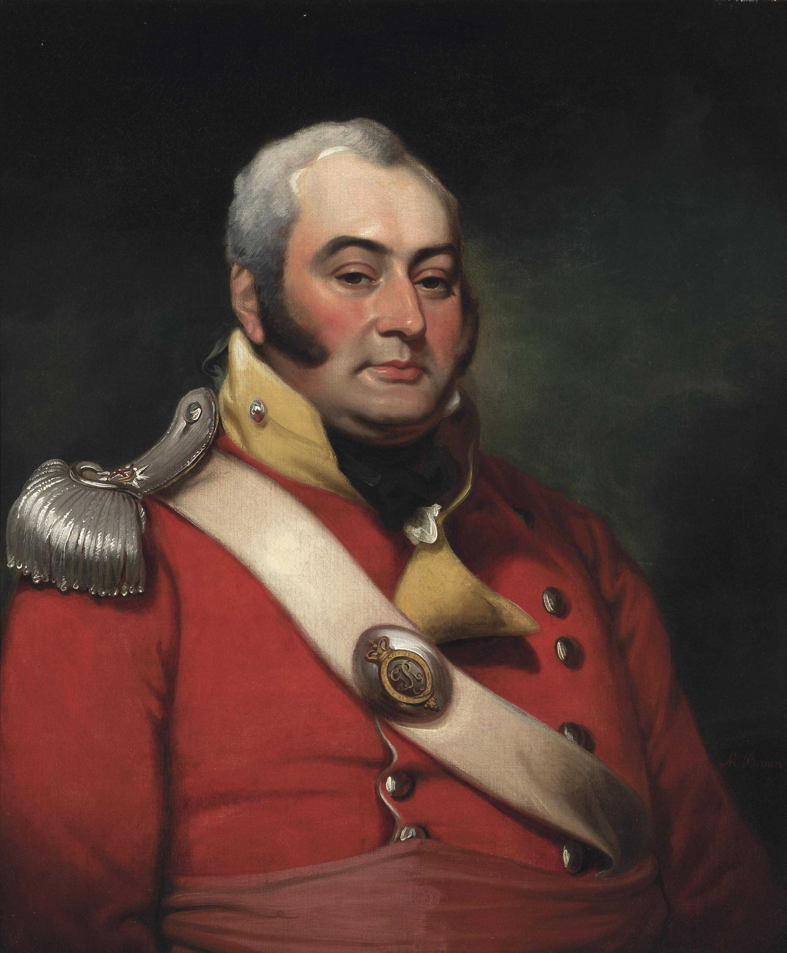 Portrait of George Fermor, 3rd Earl of Pomfret (1768-1830), half-length, wearing the uniform of a Captain in the Northamptonshire Militia