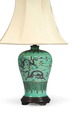 A CHINESE TURQUOISE-GROUND VAS