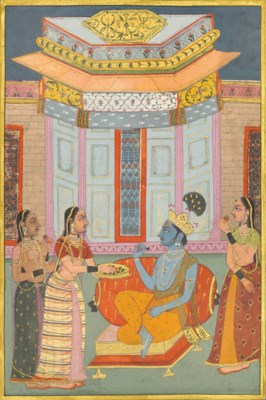 KRISHNA ENTERTAINED BY LADIES