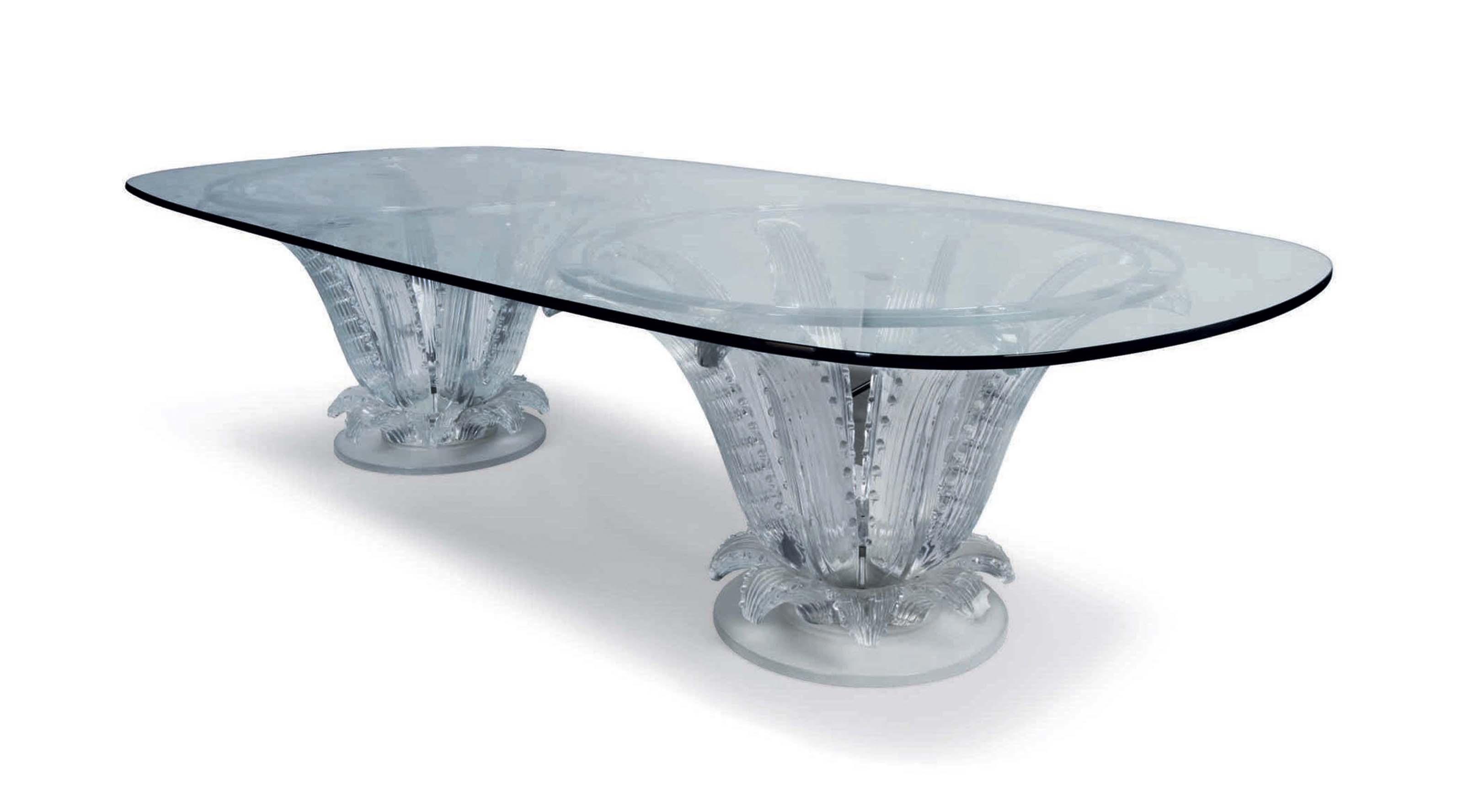 MARC LALIQUE 1900-1977 A CACTUS TABLE