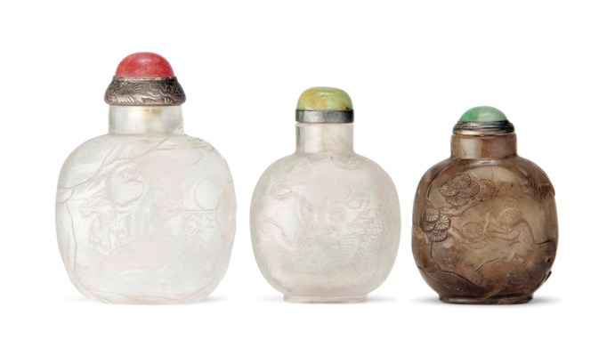 TWO ROCK CRYSTAL AND ONE QUART