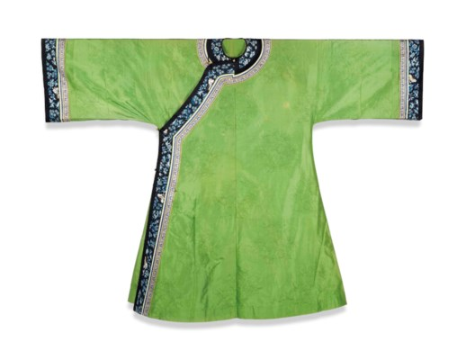A GREEN SILK GAUZE LADY'S SUMM