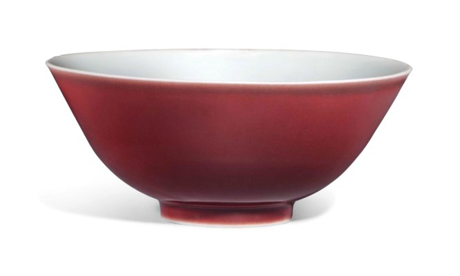 A COPPER-RED-GLAZED BOWL