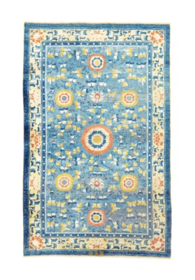 A SILK THREAD RUG