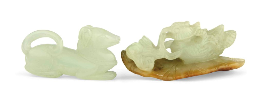 TWO SMALL JADE CARVINGS