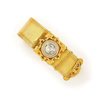 A 19TH CENTURY DIAMOND-SET BRA