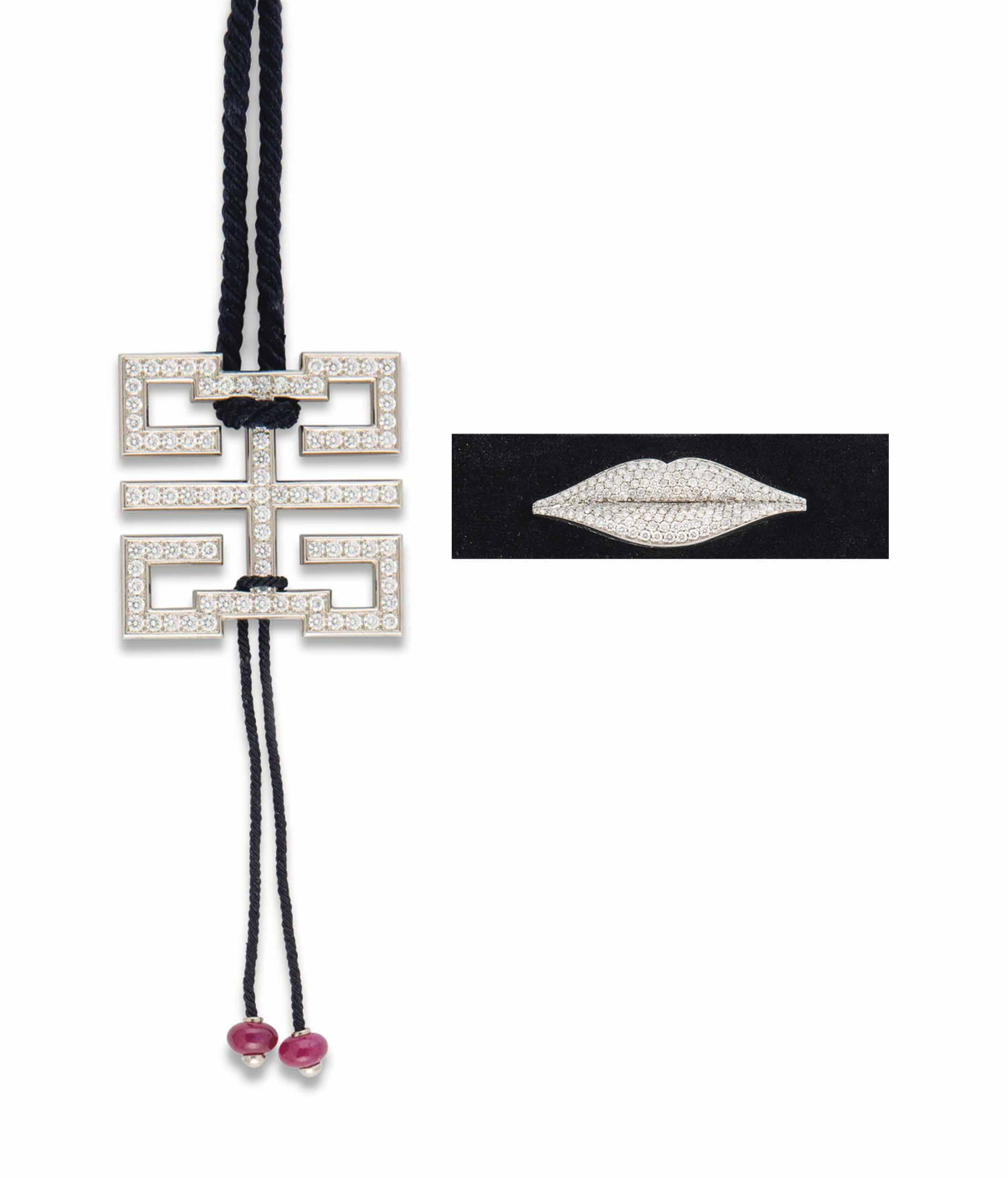 A 'BAISER DU DRAGON' PENDANT NECKLACE, BY CARTIER AND TWO NECKLACES, BY ENIGMA