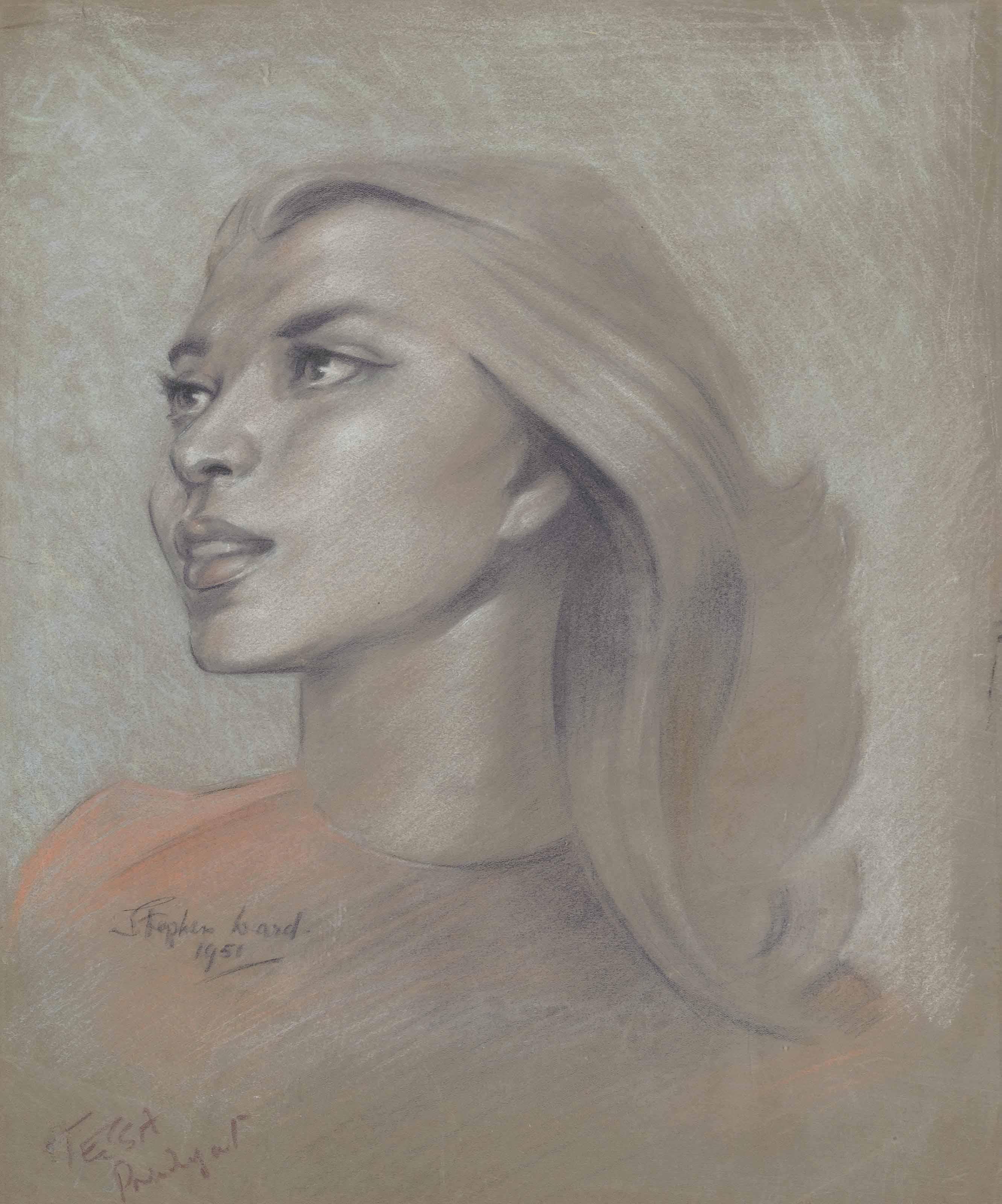Portrait of Miss Tessa Pendagast; Six portrait studies of Adele de Havilland