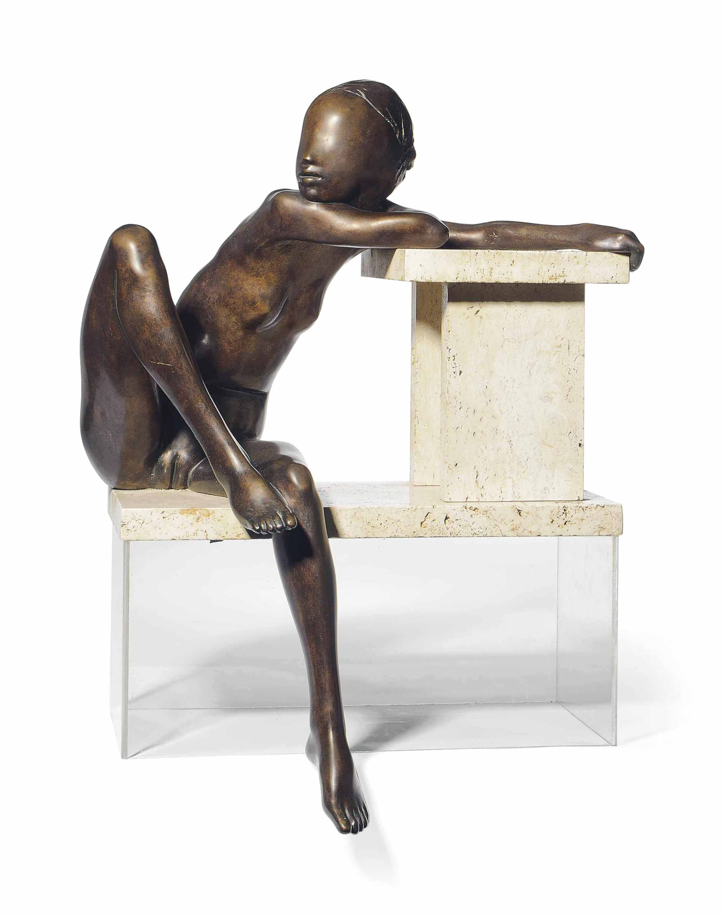 Maquette: Girl with knee raised