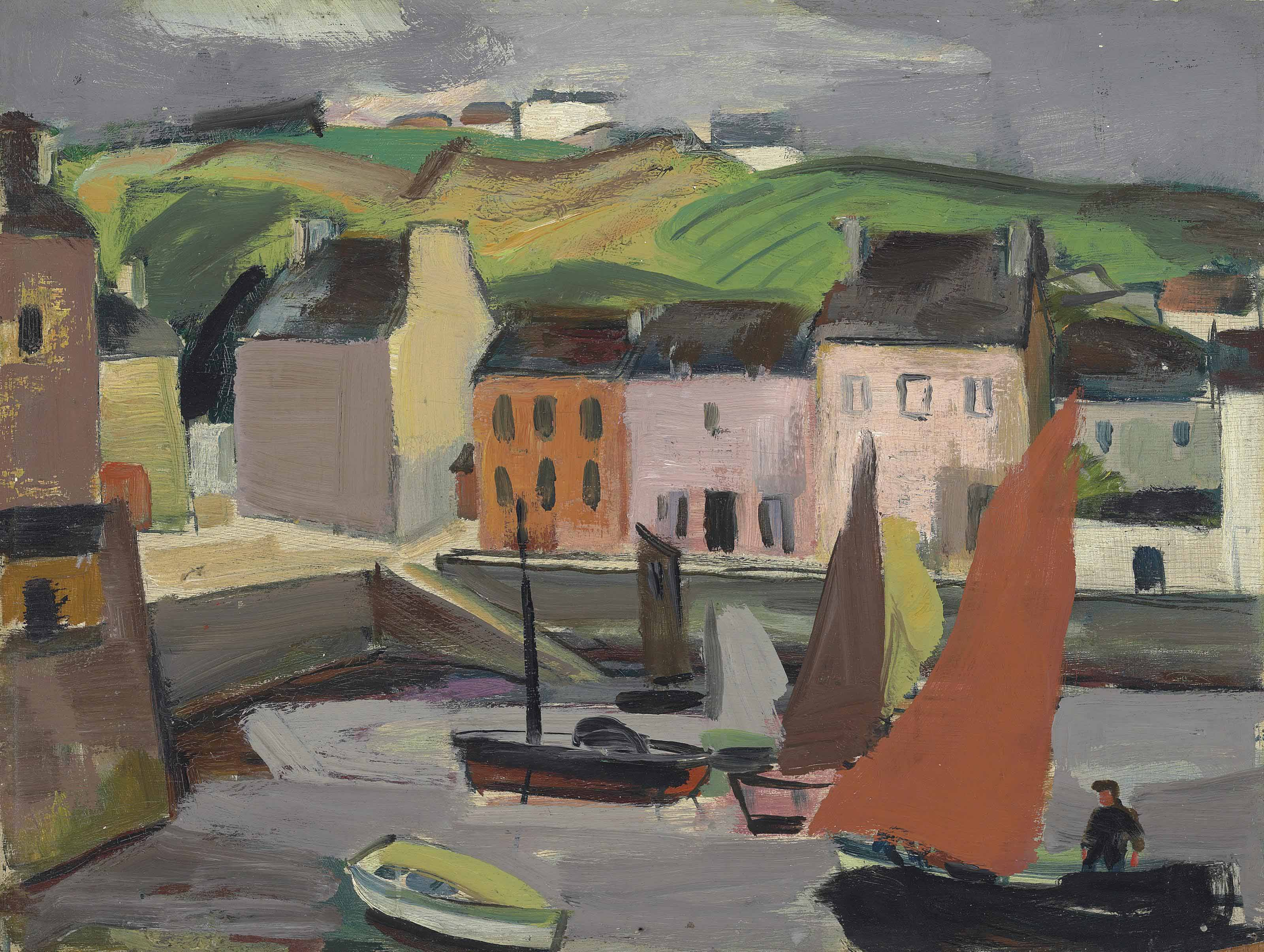 Boats in the harbour, Brittany