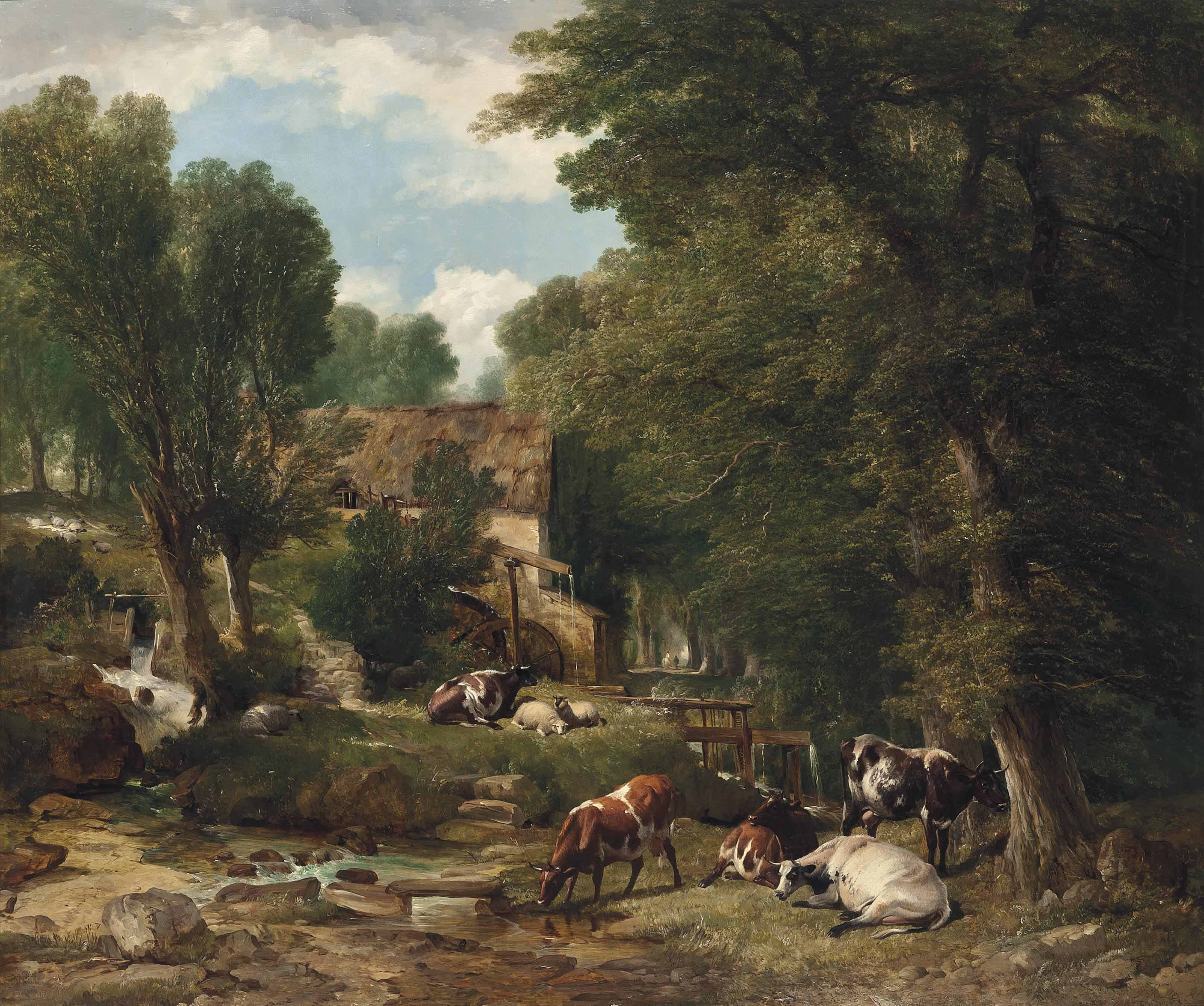 Across the village, beyond the mill