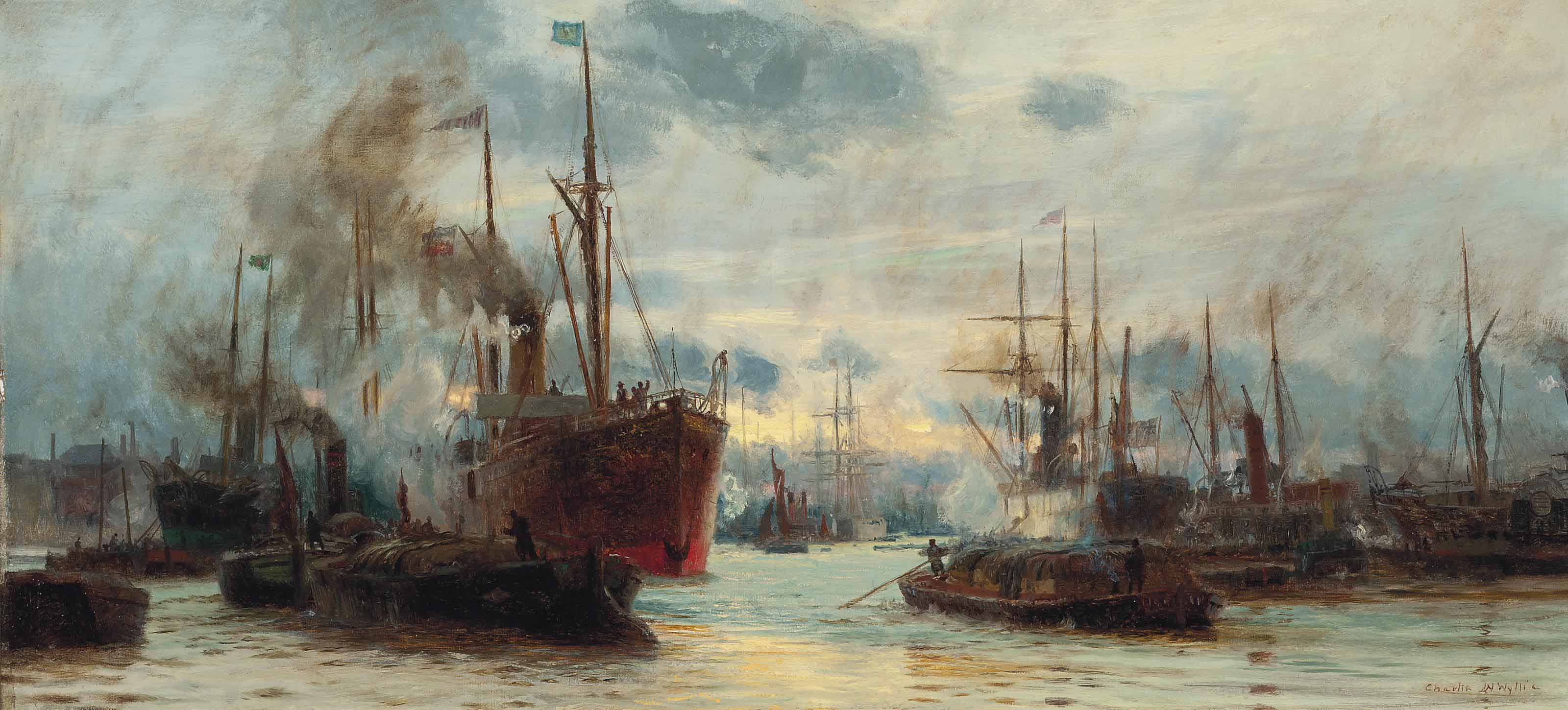 Congested waters on the Thames