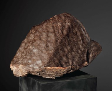 An enormous stone meteorite — NWA 8413, H6 Sahara Desert. 60 x 50 x 43 cm (24 x 21 x17 in). Sold for £74,500 on 20 April 2016  at Christie's in London, South Kensington