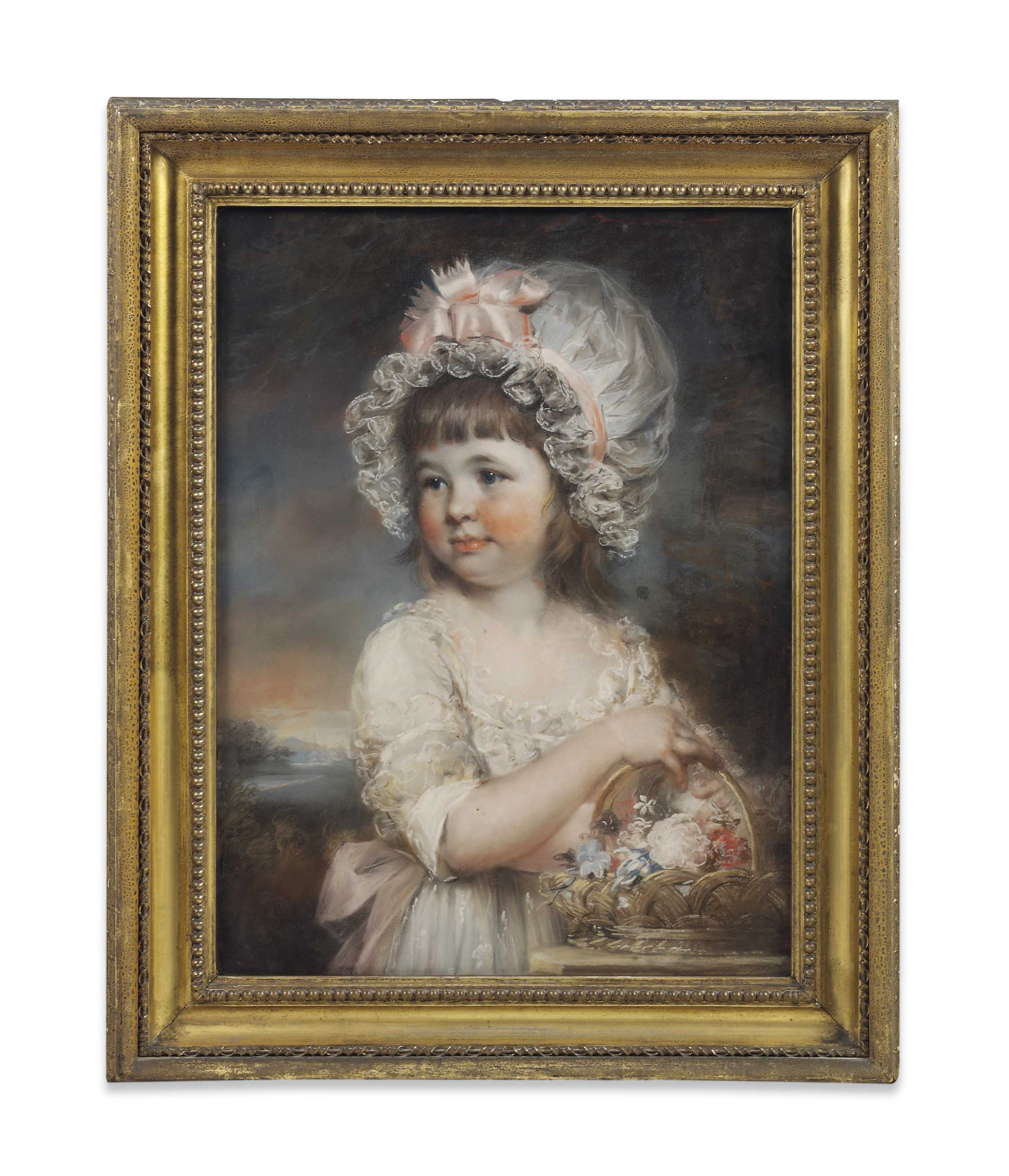 Portrait of Lady Henrietta Elizabeth Cavendish, younger daughter of William, fifth Duke of Devonshire, aged five