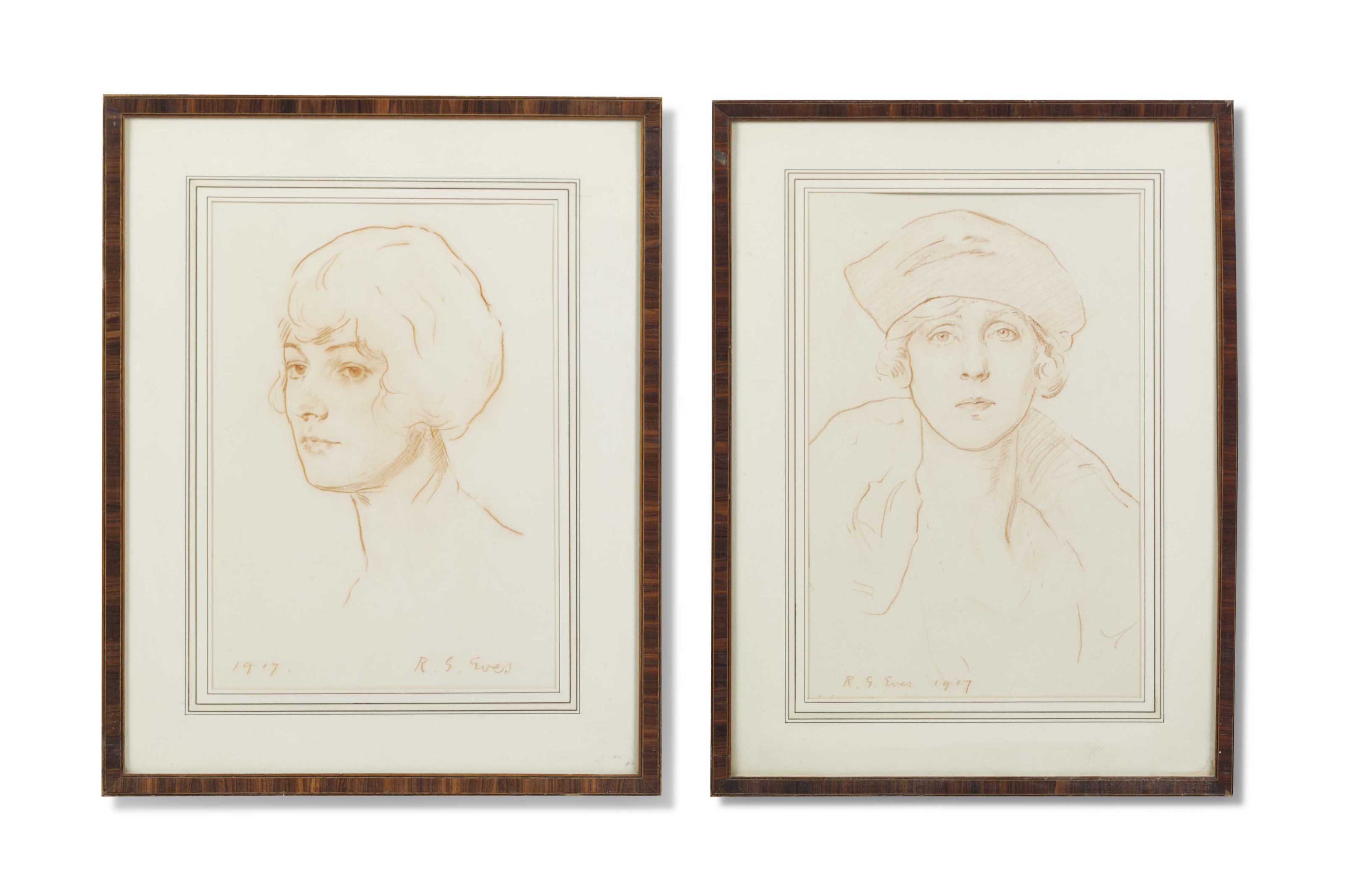 Portrait of Lady Mainwaring; and Portrait of Lady Diana Manners, later Viscountess Norwich (1892-1986)