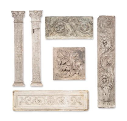 A GROUP OF PLASTER RELIEF MOUL