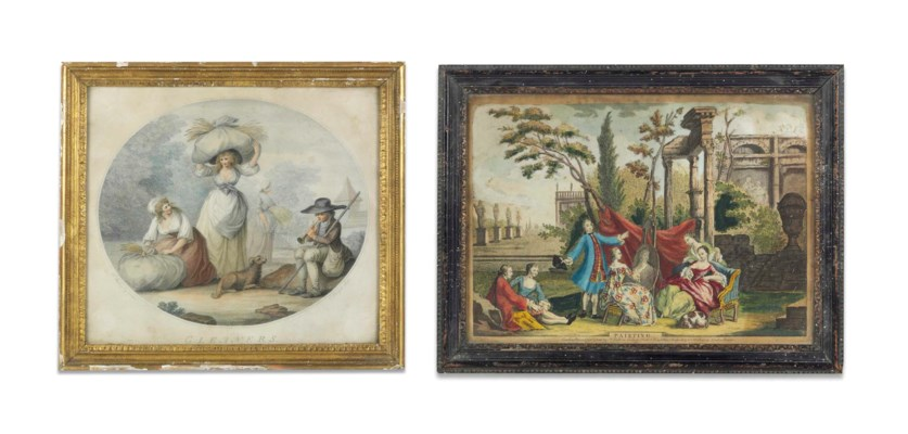 A PAIR OF COLOURED ENGRAVINGS