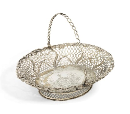 AN IRISH SILVER BASKET