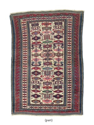 A LOT OF TWO CAUCASIAN RUGS &