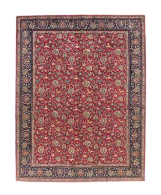 A SIGNED TABRIZ CARPET