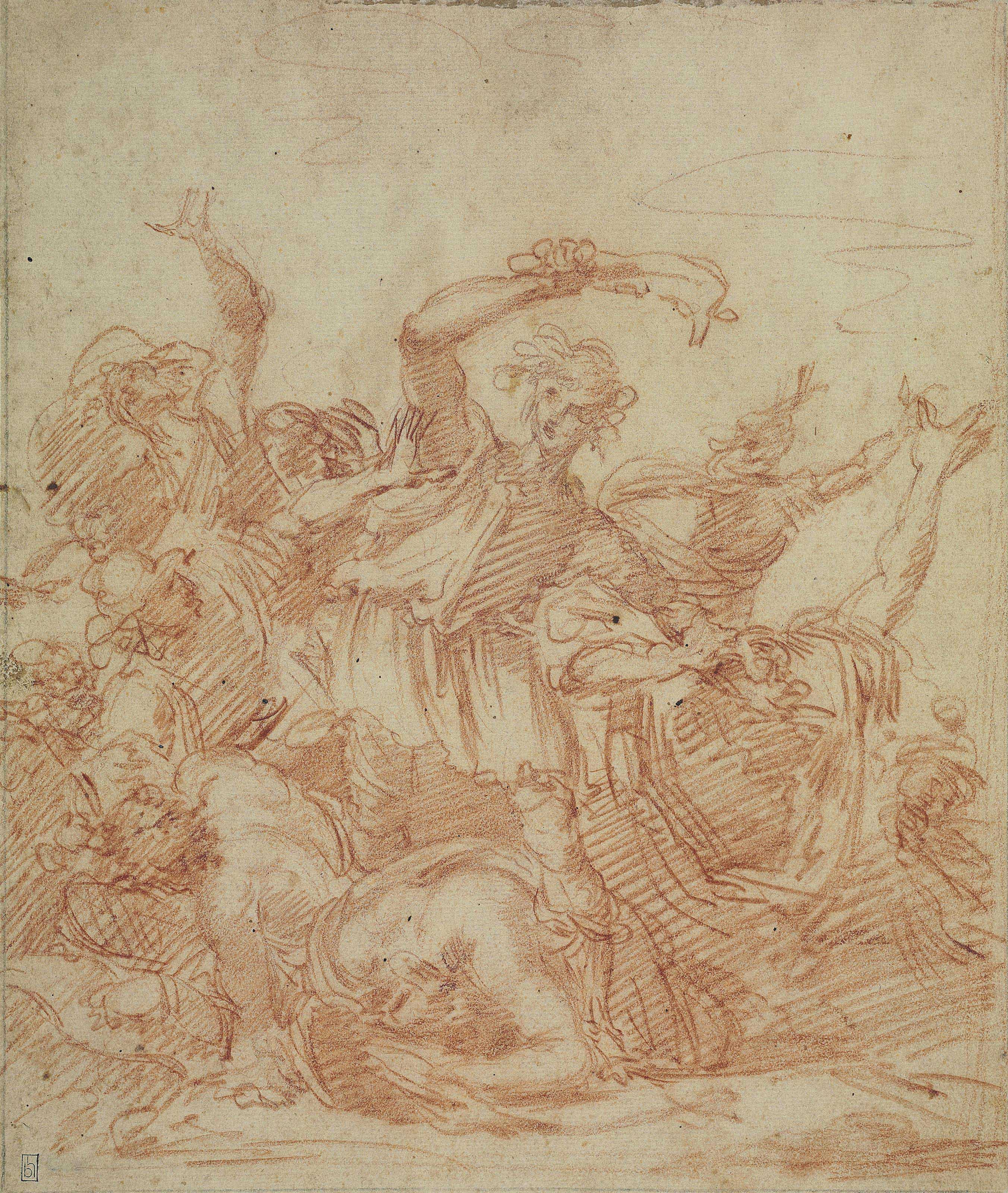 Samson slaying the Philistines with the Jawbone of an Ass