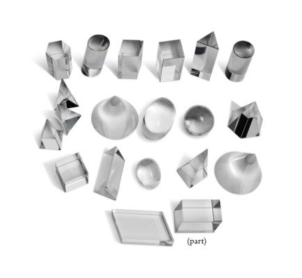 A COLLECTION OF GLASS GEOMETRI