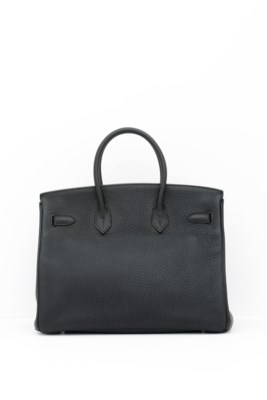 HERMES. A BLACK CLEMENCE LEATH