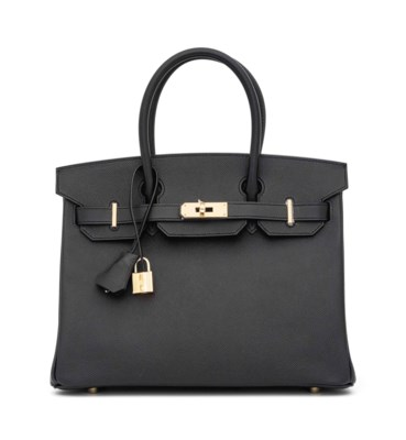 A BLACK EPSOM LEATHER BIRKIN 3