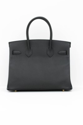 HERMÈS. A BLACK EPSOM LEATHER