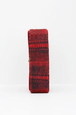 CHANEL. A RED & BLACK PYTHON J