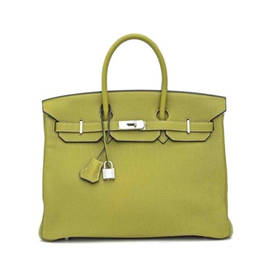 A VERT CHARTREUSE TOGO LEATHER