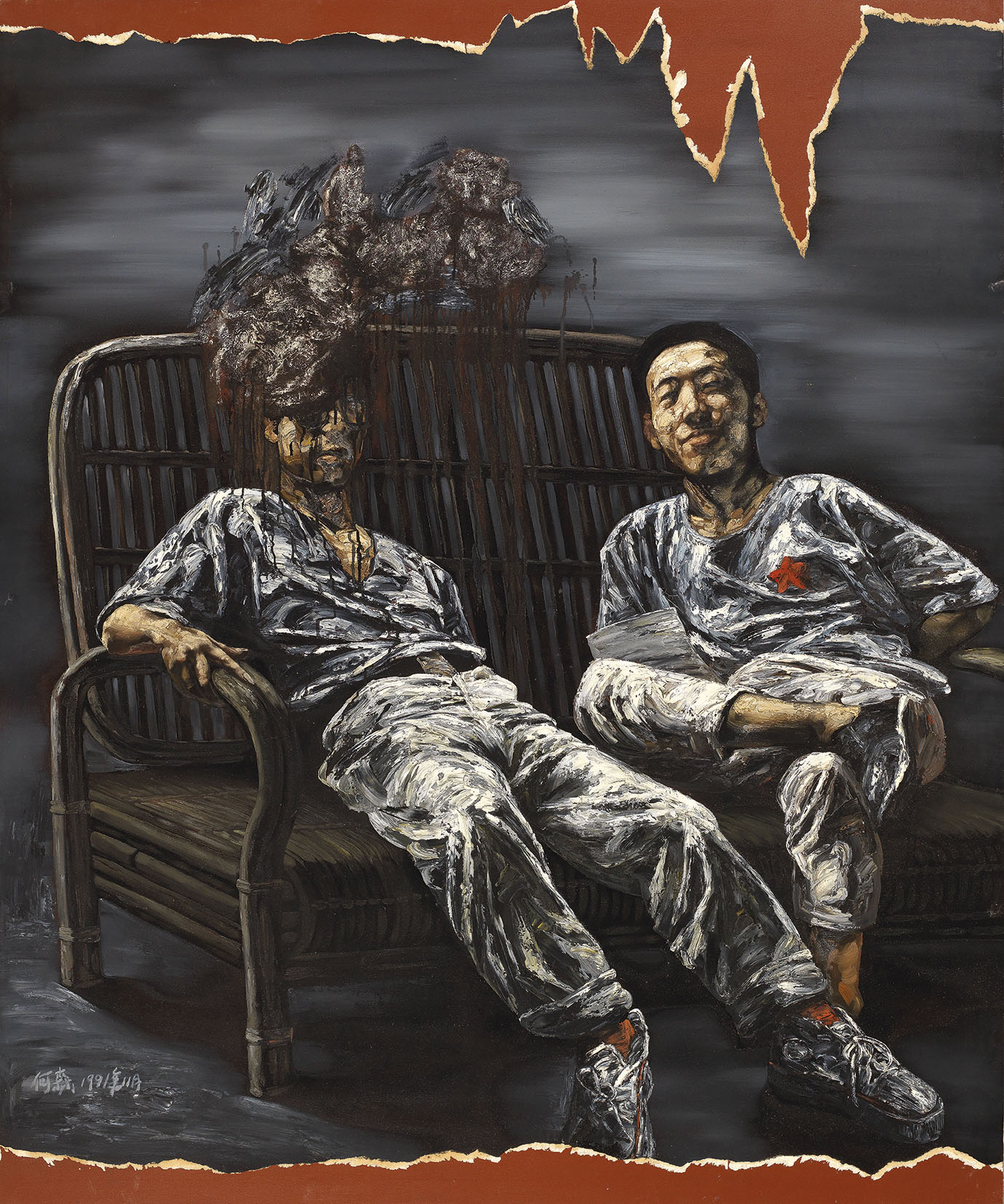Two Friends in a Chair