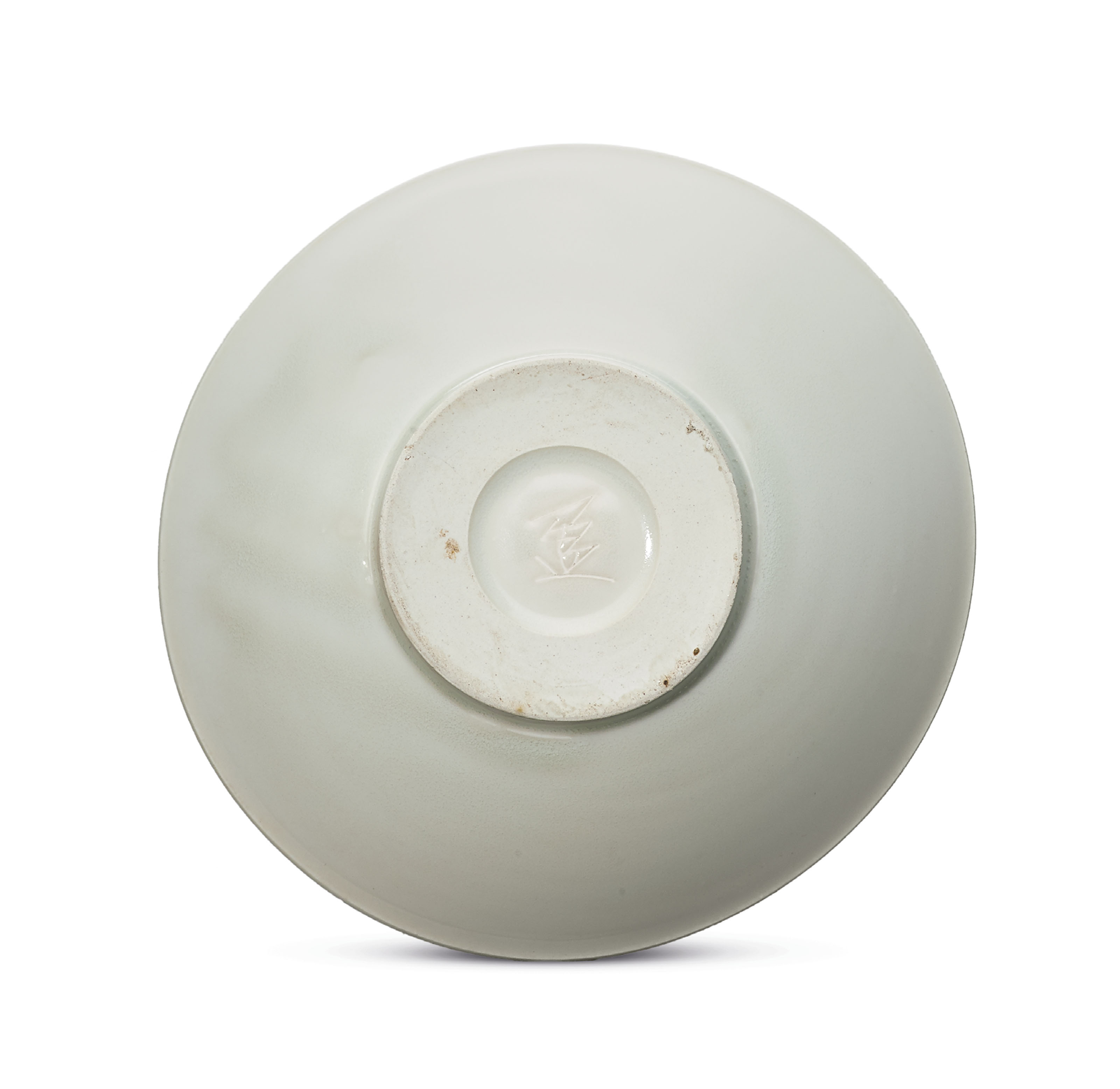 AN INSCRIBED XING WHITE-GLAZED