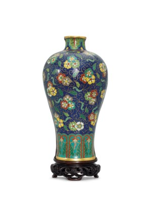 A CLOISONNE ENAMEL MEIPING-FOR
