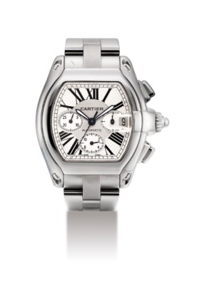 CARTIER. A STAINLESS STEEL TON