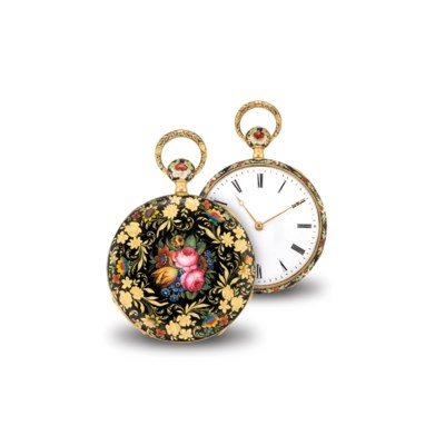SWISS. A THIN GOLD AND ENAMEL
