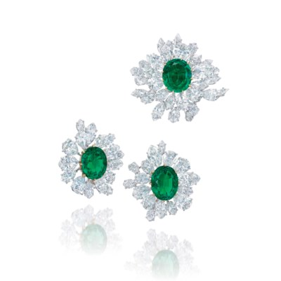 AN IMPORTANT SET OF EMERALD AN