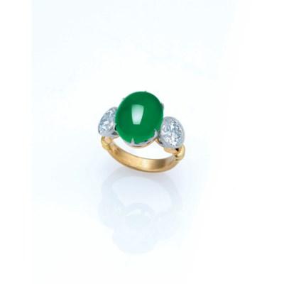 A SUPERB JADEITE AND DIAMOND R
