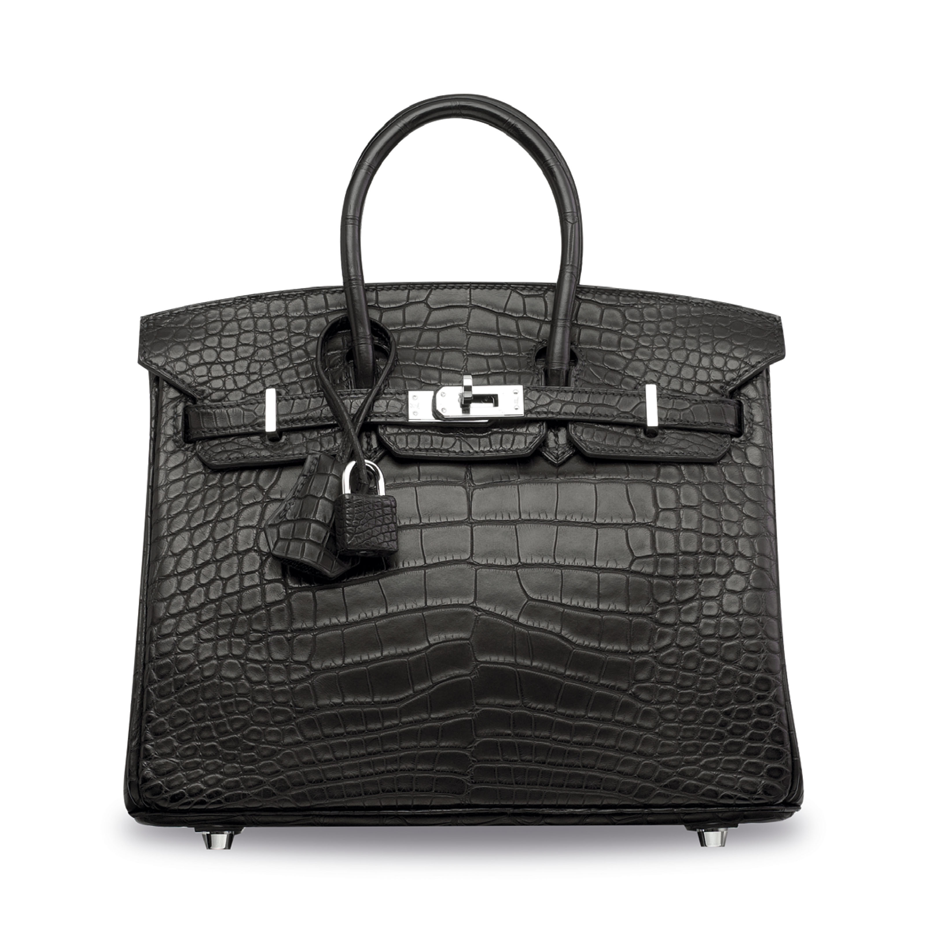 A MATTE BLACK ALLIGATOR BIRKIN