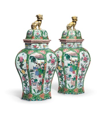 A PAIR OF CHINESE EXPORT STYLE